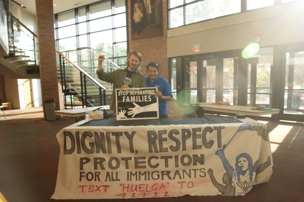 "Calvin community participates in ""DACA: Lament into Action."" Photo by Kayla McLean."