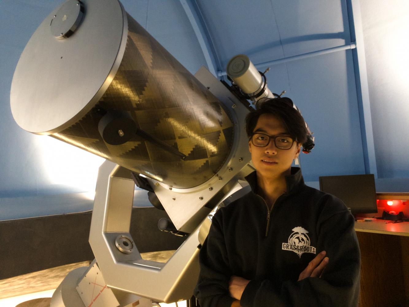 Junior Chris Jang studies physics and astronomy and aspires to be an astronaut. Photo by David Fitch.