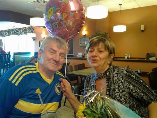Fuad and Ramiza Fazlic celebrated Ramiza's birthday soon before Fuad died. Photo by Ramiza Fazlic.