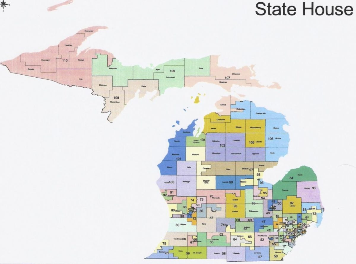 Michigan's state House of Representatives districts. Photo courtesy The Western Right.