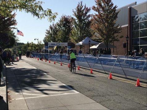 Students run local triathlon
