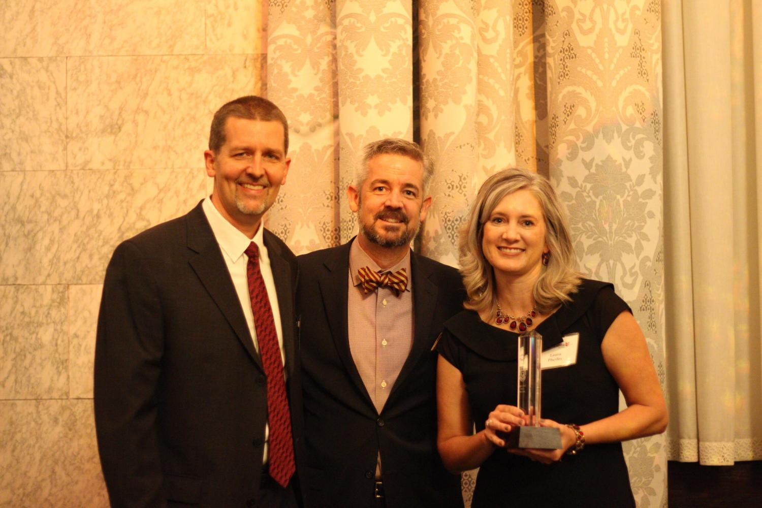 Todd and Laura Pheifer were two of the winners of this year's Outstanding Service Award. Photo by Yooyoung Kwon.