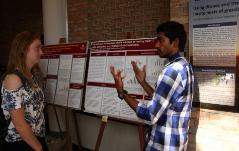 Students present research at poster fair