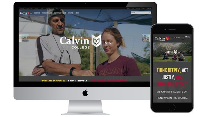 Calvin website changes aimed at prospective students