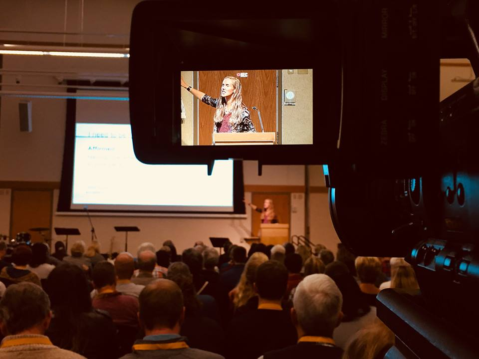 HIMH Ministries executive director Laurie Krieg opened the  Caring Well Conference by sharing her personal story. Photo courtesy Hole In My Heart Ministries.