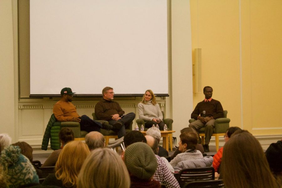 Panelists gathered at the Grand Rapids Public Library to discuss gentrification in GR. Photo by Morgan Anderson.