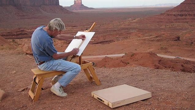 Speyers, who teaches art and art history, credits his experiences painting in Monument Valley with the beginning of his inspiration to paint the west. Photo courtesy Calvin.edu.