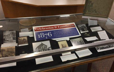 Displays around campus made from public history interim