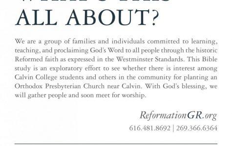 Prof seeks to create church plant