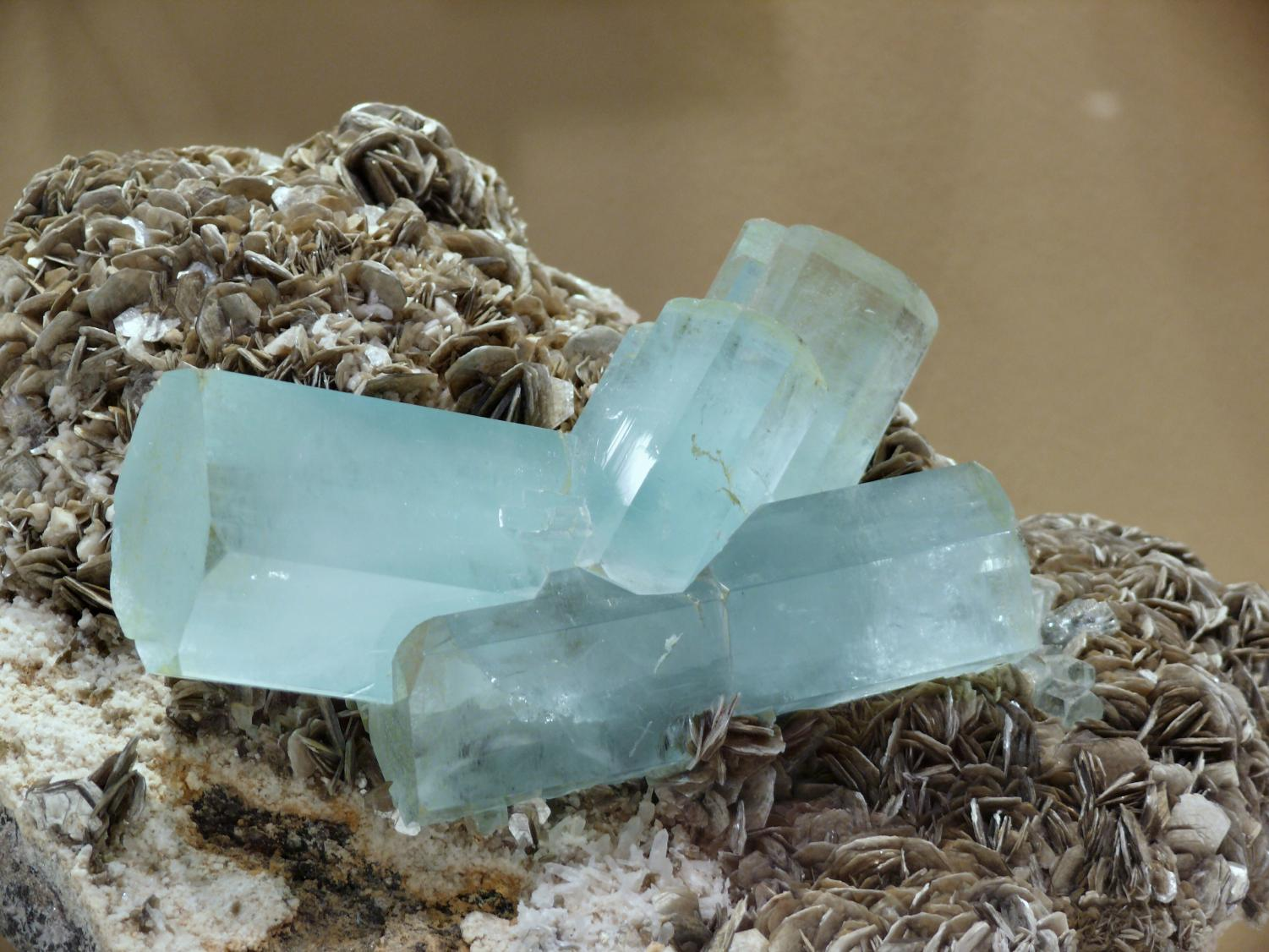 Credit: Photo courtesy Wikimedia Commons User Gunnar Ries Aquamarine is on display in the Dice Mineralogical Museum in North Hall.