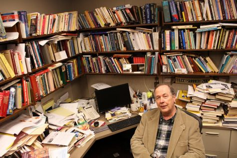 Retiring English prof pairs statistical analysis and language