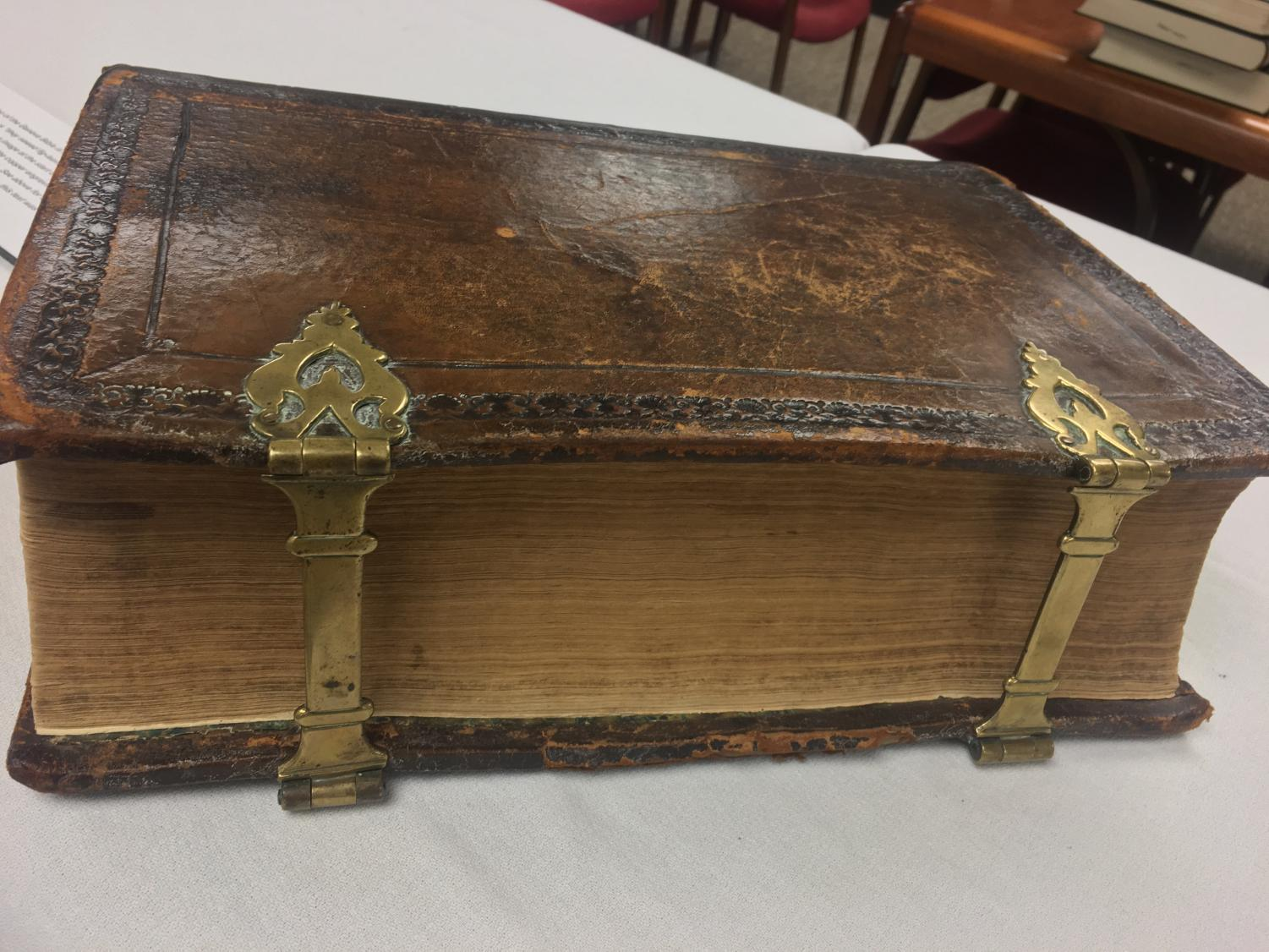 Hekman Library currently has various antique Bibles on display.