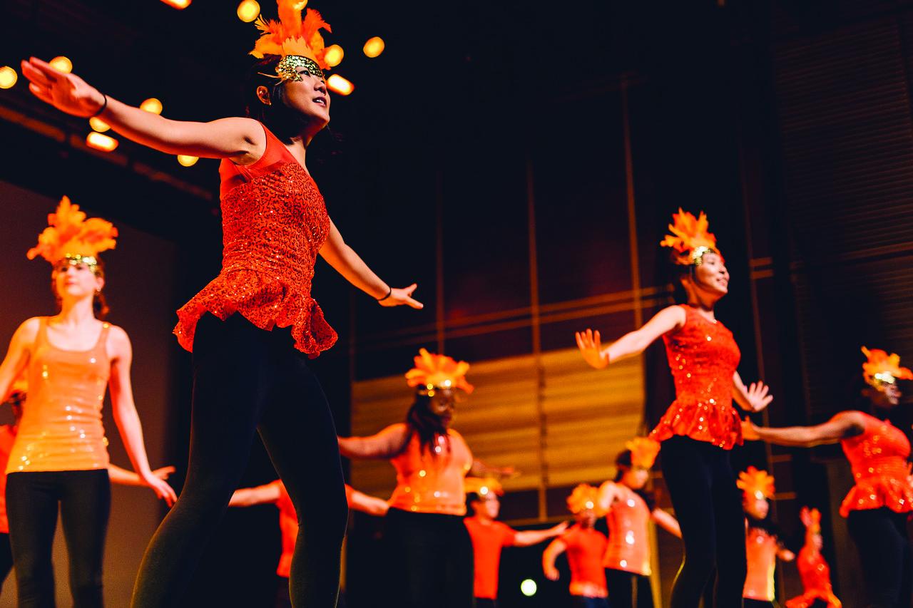 Dancers in Rangella 2016. Photo courtesy of Calvin.edu