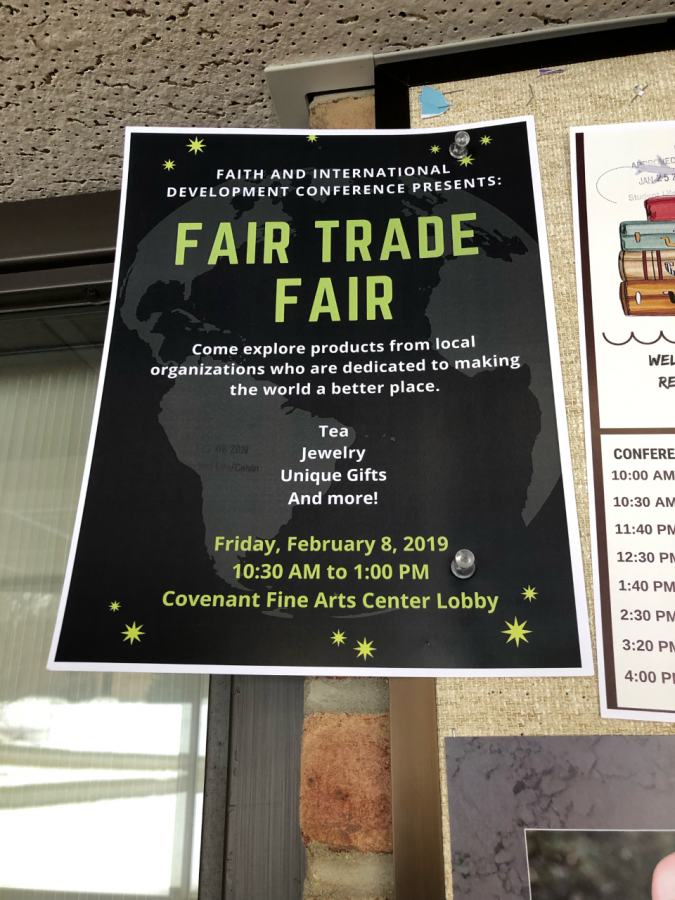 A poster for the Fair Trade Fair.