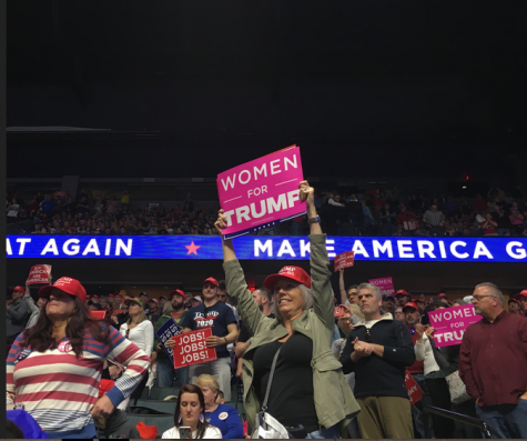 President Donald Trump holds campaign rally in Grand Rapids, the first following the Mueller report