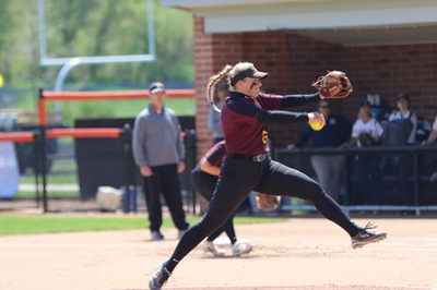 2018 First Team All MIAA pitcher Anna Gernant opened the season in the circle for the Knights.