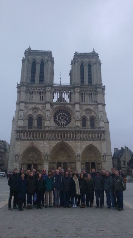 The+2018+Europe+interim+trip+at+the+Cathedral+of+Notre+Dame+in+Paris.