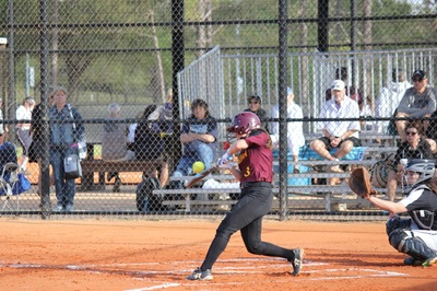 Sophomore Grace Stock hit two homeruns in the two game series.