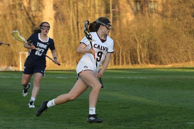 Senior Aly Gagnon was one of five women's lacrosse players to earn all-conference honors.