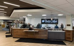 Photo of the new coffeeshop in the Hekman Library