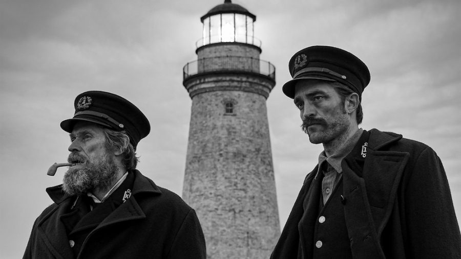 Dafoe+and+Pattinson+star+as+a+pair+of+secluded+lighthouse-keepers.+