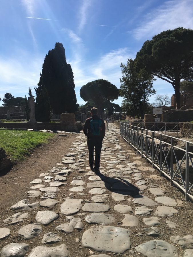 In Ostia, the port city where Augustine arrived en route to Rome, and where his mother, Monica, later died and was buried.