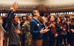 Chapel this semester will be livestreamed, and humming will replace singing in viewing rooms on campus.