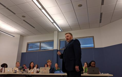 The administration of education: interim superintendent of GRPS lectures in Calvin class