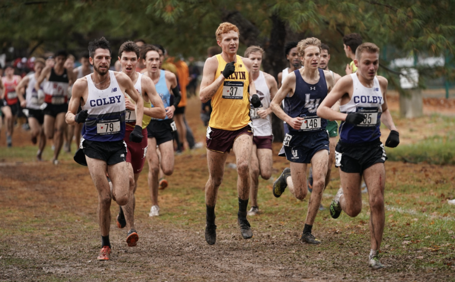 Pictured%2C+Tyler+Johnson+running+the+8k+at+NCAA+DIII+Cross+Country+Championships