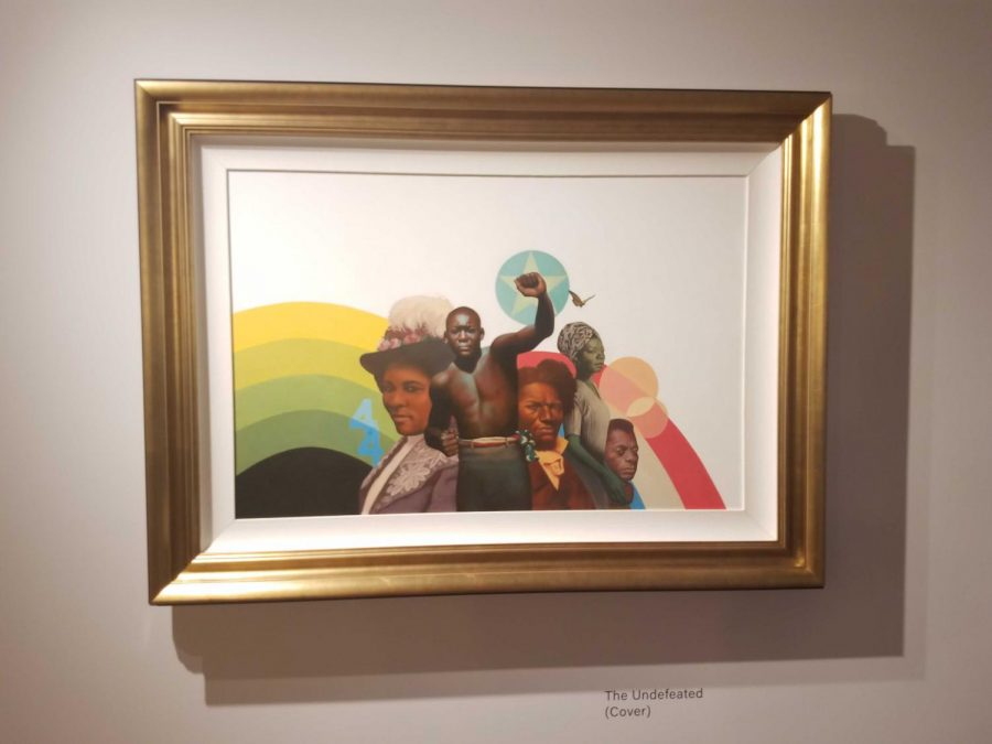 The+paintings+utilize+a+diverse+pallet+to+capture+the+fullness+of+African+American+history.+