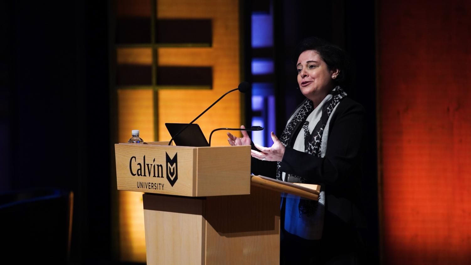 Najla Kassab discussed six ways in which the Reformed church has an impact in the Middle East.