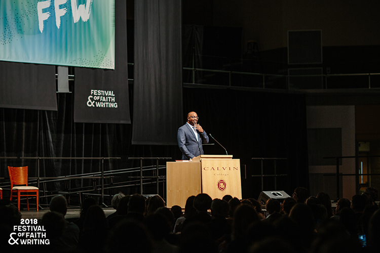 Photo of Kwame Alexander, author and speaker at the 2018 Festival of Faith & Writing