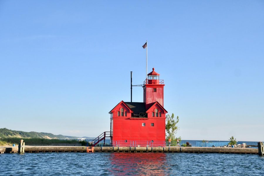 The Big Red lighthouse at Holland State Park is a great photo opportunity. (Photo courtesy Peggy Paulson)