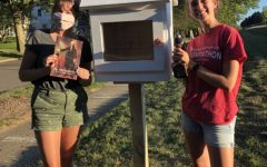 As part of the fellowship, these students constructed a little free library for their church