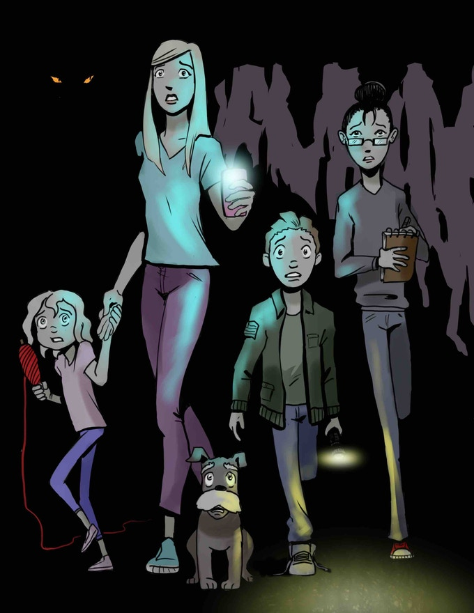 Several of the main characters in The Undergrounds.