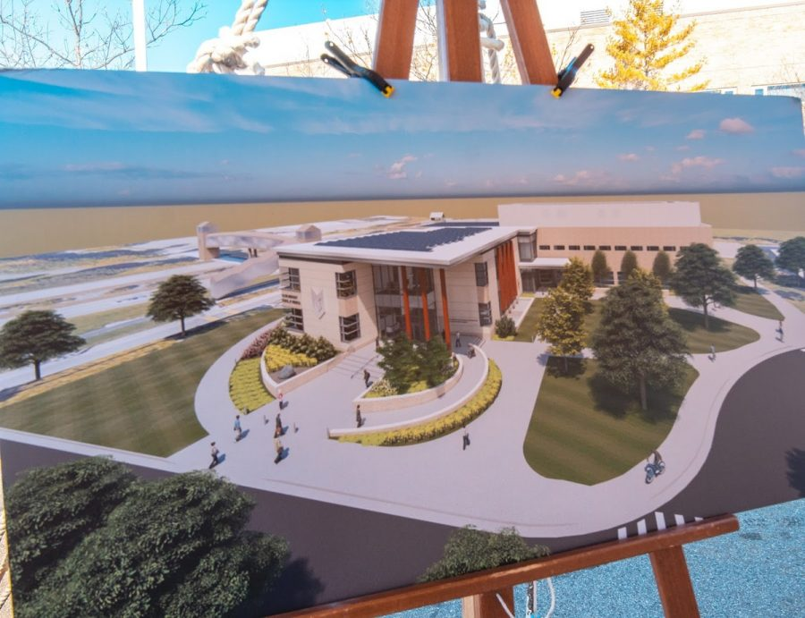 Rendering of plans for the new business school.