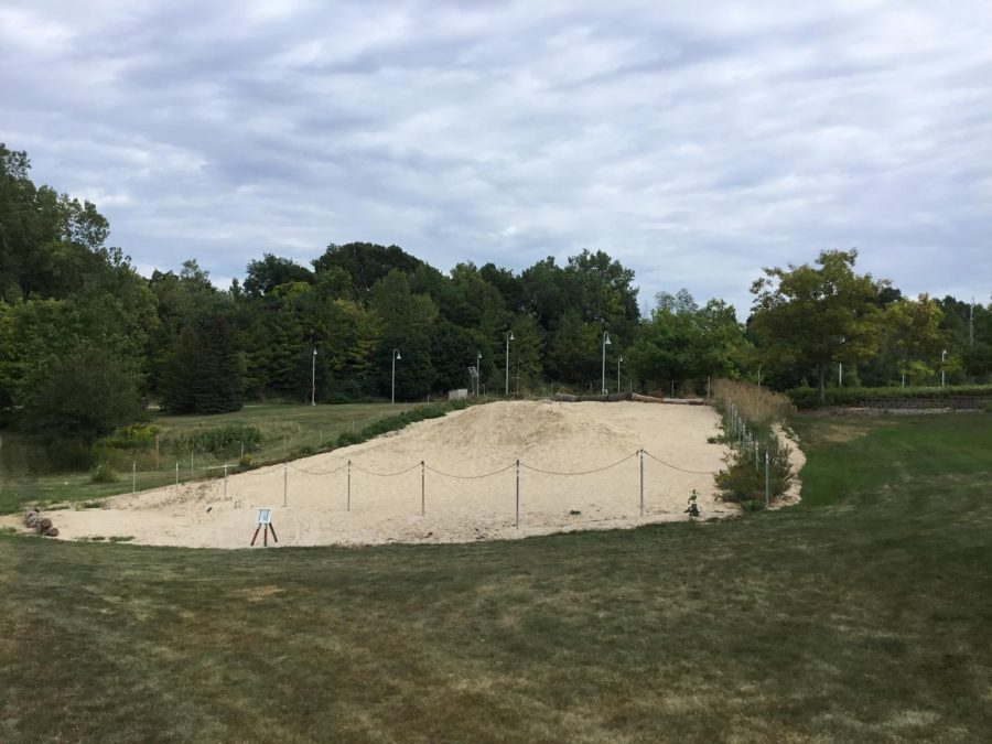 A year after the Perseverance dune was first built, the geo department added more sand to simulate a blowout dune.