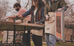 Student-led screen printing spreads social messages on campus.