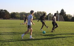 Students play Friday Night Soccer at Phi Chi field on Oct. 1.