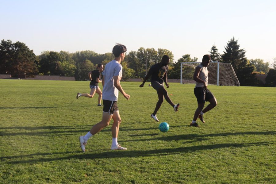 Students+play+Friday+Night+Soccer+at+Phi+Chi+field+on+Oct.+1.